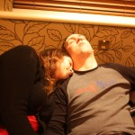 Michelle and Greg fall asleep