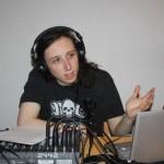 Chris podcasting