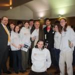 Leeds A-Soc members pose with Richard Dawkins