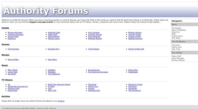 Authority Forums