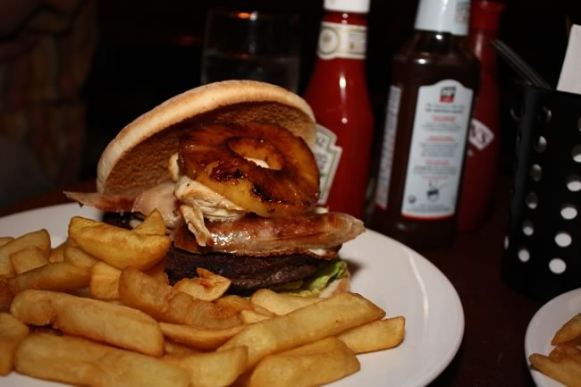 Mega mixed grill burger