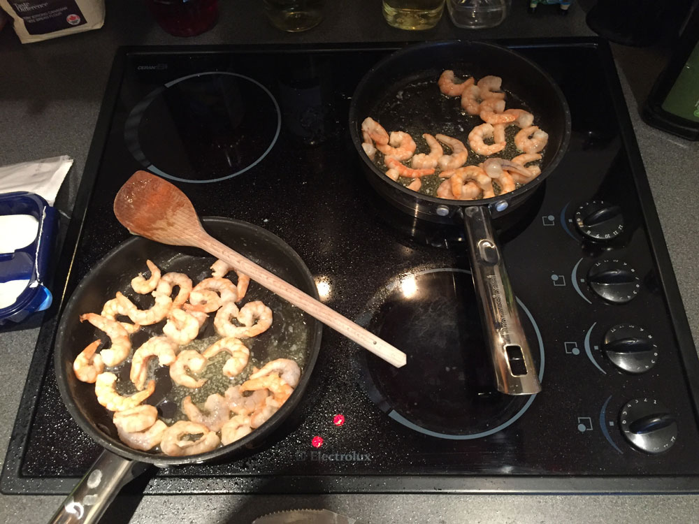 prawns-cooking